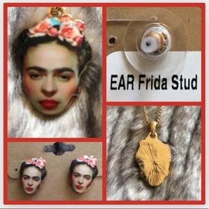 NWT New Frida Kahlo Earring and Necklace Set